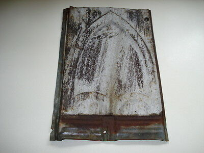 Antique Art Deco Tin Ceiling Tile Salvaged Architectural Reclaimed 9 by 14 IN.