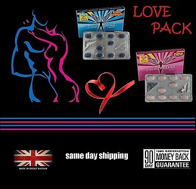 LOVE PACK Limited Offer Strong 850mg Blue & Pink Tablets for HIM & HER Spice Up