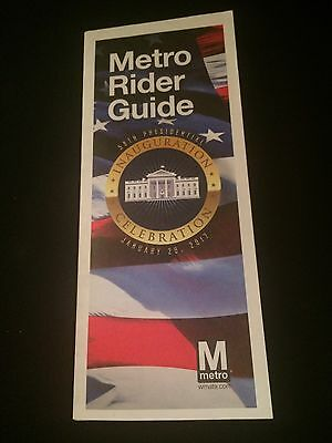 DC Metro Subway Map-2017 President Donald Trump Inauguration Edition Collectible
