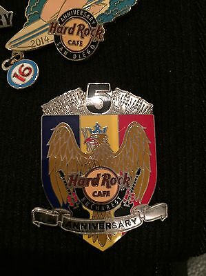 Hard Rock Cafe Bucharest 5th Anniversary Pin