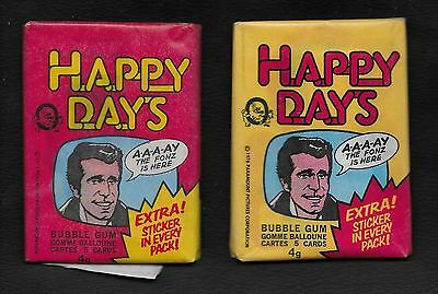 Vintage 1976 OPC Happy Days Unopened Wax Pack from Box