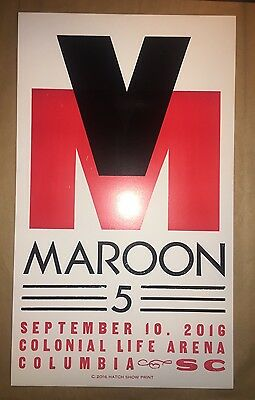 Maroon 5 Limited Edition Poster Hatch Show Print