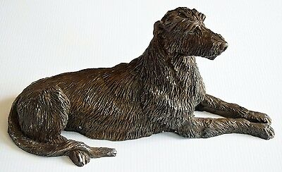 Irish Wolfhound Model - Hand Crafted from Cold Cast Bronze - 29cm
