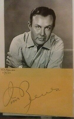Jim Reeves Original Autograph. Rare