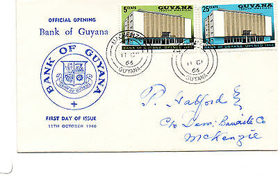 Official Opening Of The Bank Of Guyana-11Th October 1966-Fdc.