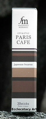 Paris Cafe Incense Sticks Coffee Aroma Incense Nippon Kodo Fragrance Memories
