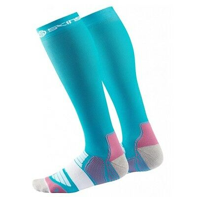 Skins Women's Active Essentials Compression Socks Bright Blue/Bright Pink Medium