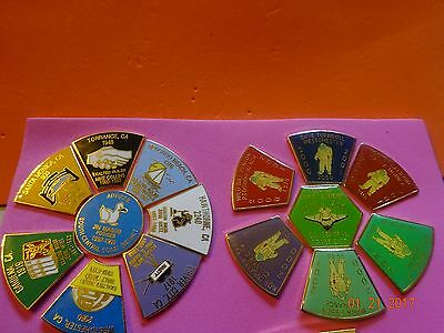 BPOE ELKS 2 different  California South Central Coast Pin Sets