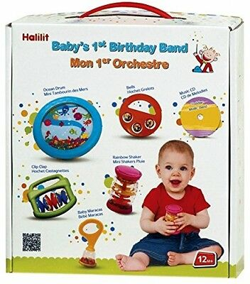 Halilit Baby First Birthday Band Musical Instrument Gift Set Band Toys Kids