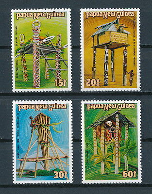 Papua New Guinea  616-19 MNH, Traditional Structures, 1985