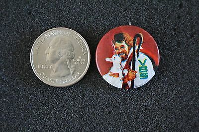 VBS Vacation Bible School Jesus With Lamb Pin Pinback Button #22292