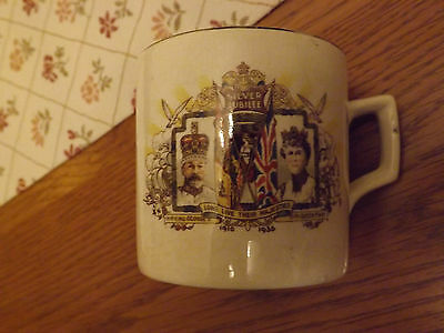 Silver Jubilee small mug King George/Mary 1910-1935