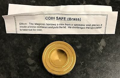 Solid Brass Coin Safe Magic Trick BRAND NEW