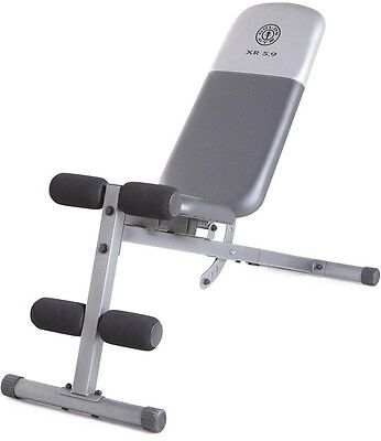 Gold's Gym XR 5.9 Bench, Chiseled Abs, Powerful Core, Utility Weight Bench, Home