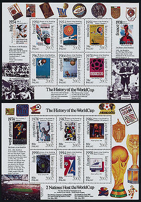 Palau 630-1 MNH Sports, World Cup Soccer, Football, History of the World Cup