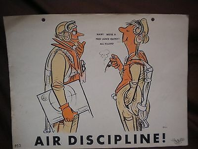 "USN Training Poster, WWII, ""Dilbert"" Series"