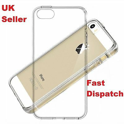 Clear Transparent Soft Silicone Gel TPU Soft Case Cover For iPhone 5 5S