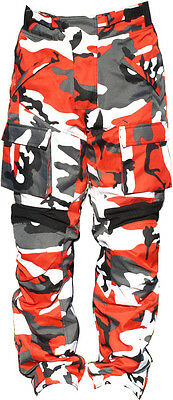 Black Ash Mens Motorcycle Pants Textile Cordura Armored Red Size 30""