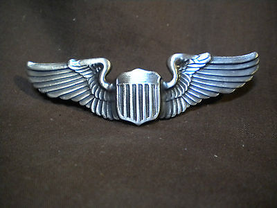 """WWII USAAF Regulation 3"""" Pilot's Wings -  Reproduction"""