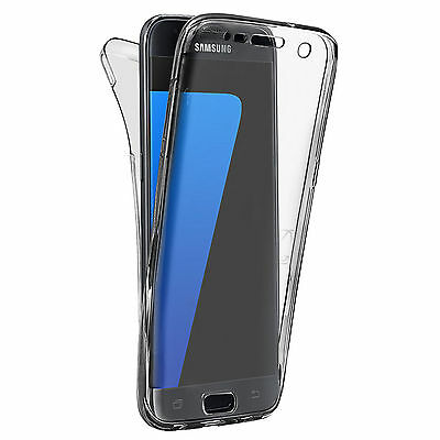 Shockproof 360° Silicone Protective Case For Samsung Galaxy S7 EDGE Grey (19)