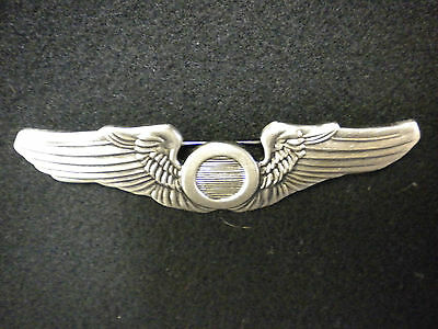 """WWII USAAF Regulation 3"""" Observer's Wings -  Reproduction"""