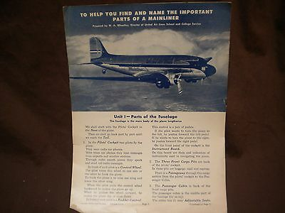 United Airlines DC-3 Brochure