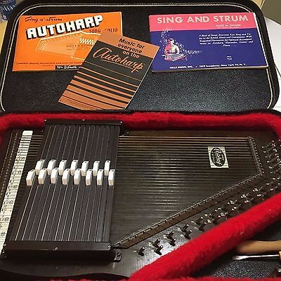 Vintage AutoHarp by Oscar Schmidt  with Case, Tool, & Extras