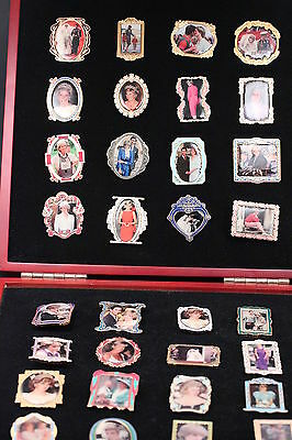 Princess Diana Pin Collection 32 Pins With Willabee And Ward Display Case Wow!