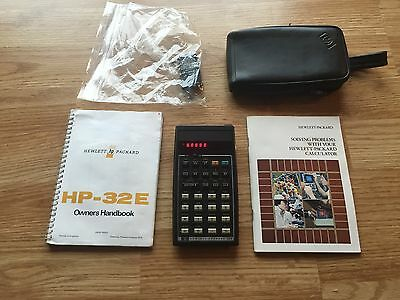 Hp 32E Vintage Calculator With Manuals And Conversion Worth A L@@K