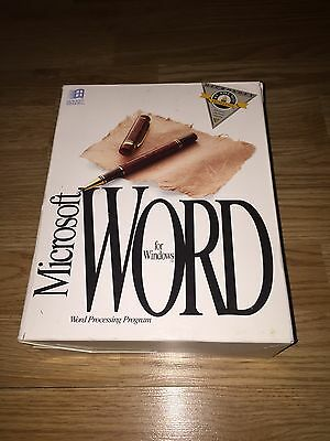 Microsoft Word For Windows 2.0 1991 3.5 Disks Complete In Box With Serial Rare