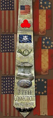 New 27th Connecticut Volunteer Infantry poly satin neck tie
