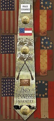 New 2nd Tennessee Infantry poly satin neck tie