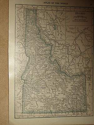 1915 Original MAP UTAH / IDAHO  101 Years Old
