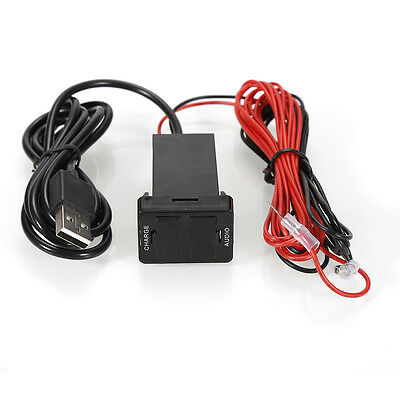 Durable Phone 2USB Charger Adaptor Ports Charging Socket DC12V 2.1A for TOYOTA