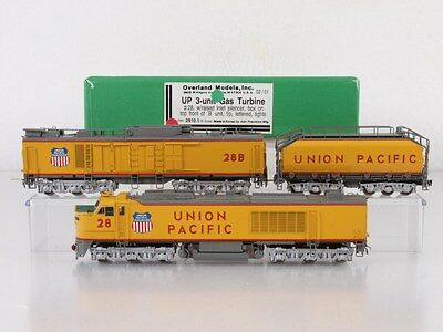 Overland/OMI 2910.1 N-Scale Brass 3-Unit Gas Turbine Union Pacific UP #28
