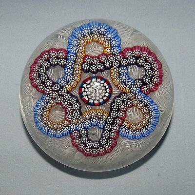 John Deacons Scotland Paperweight Trefoil On White Lace Background