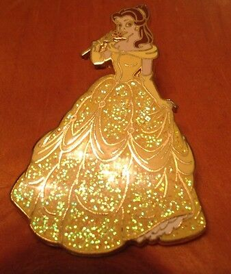 Disney Pin BEAUTY AND THE BEAST Belle In Glitter Dress.