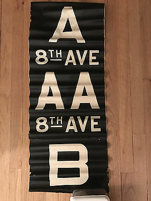 1960s IND/BMT R-16/27 Car Front Route Rollsign Section New York Subway Vellum