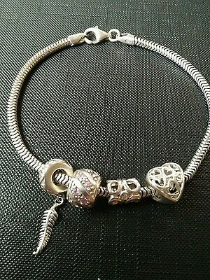925 Sterling Silver Charm Bracelet With Michael Hill Charms