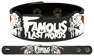 FAMOUS LAST WORDS Rubber Bracelet Wristband The Incubus Council of the Dead