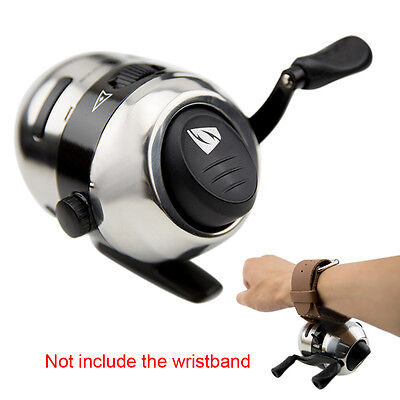Stainless Steel Bow Slingshot Catapult Hunting Shooting Fishing Spincast Reel