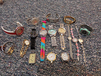 FLEA MARKET LOT - Lot of 15+ Fashion watches - Various Styles - #01/470