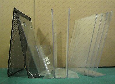 Literature Holders Table Top Acrylic and Metal Lot of 8 for Size 8 1/2 x 11