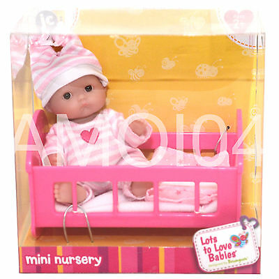 Berenguer Baby Doll Mini Nursery in Cot Lots to Love Babies - Ages 2+ *New