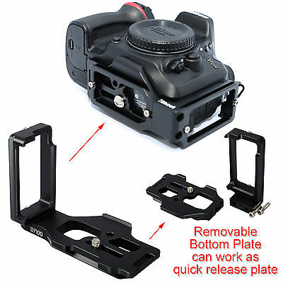 Detachable Quick Release Plate Camera Holder for Ball Head Nikon D7100 D7200