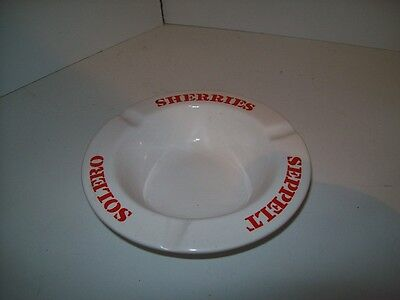 "Seppelts Solero Sherries Diana Pottery Ash Tray ""Rare"" To Find"