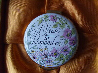 "Crummles Enamels ""A Year To Remember"" Enamel Box.unmarked with date.boxed"