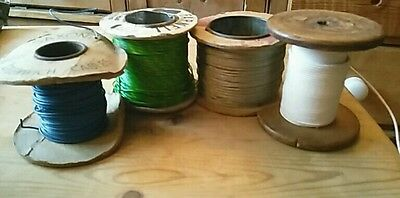 Vintage Reels of Wire/Cable - Part Used