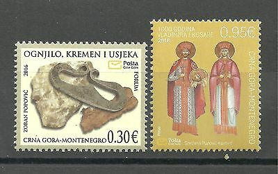 320 Montenegro 2016 Cultural and historical heritage  set MNH