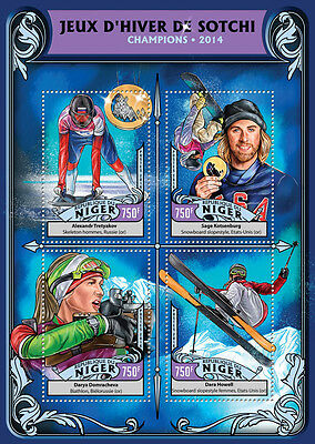 Niger 2016 MNH Winter Games Sochi Champions Medal Winners 4v M/S Olympics Stamps